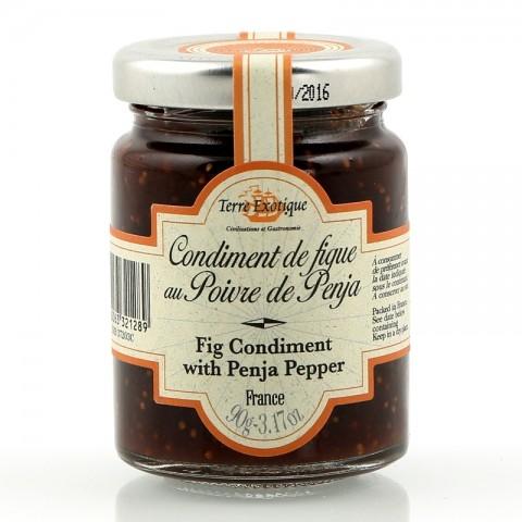 Condiment de figue au poivre de Penja