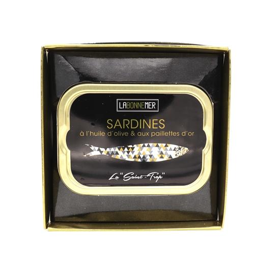 Sardine Huile & Paillettes d'or